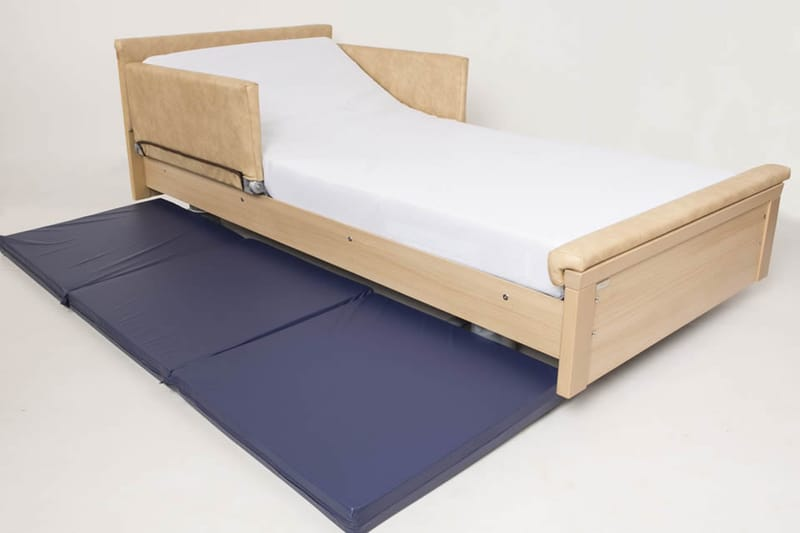 Dementia Low Bed with Crash Pad