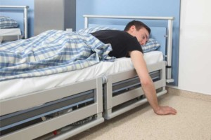 Lowering the bed to the floor significantly reduces the risk of injuries from a fall from bed.