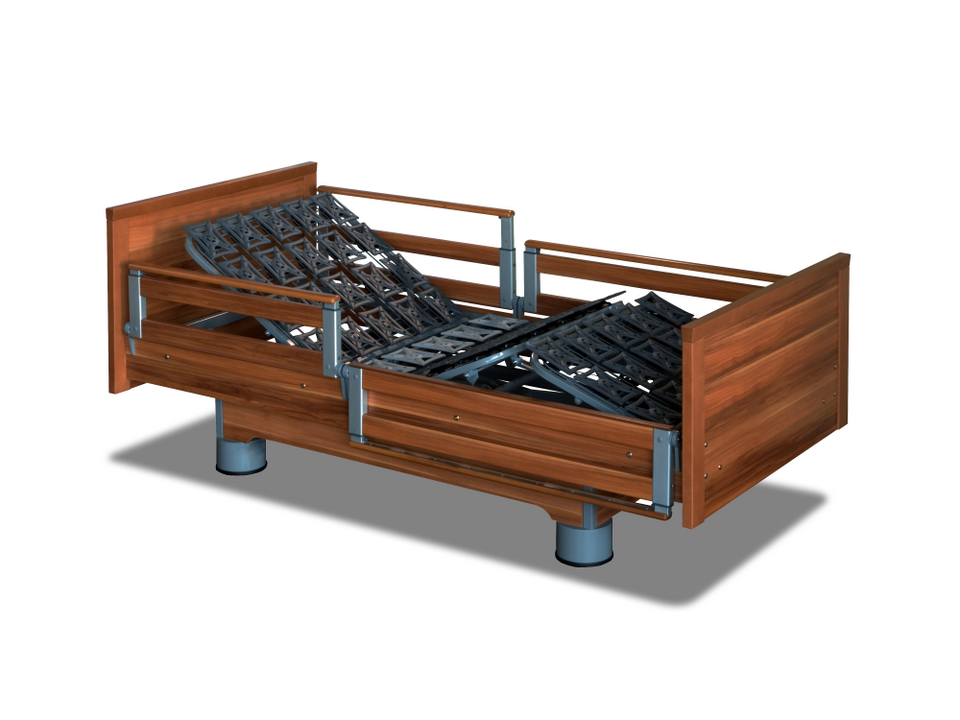 eletric adjustable bed with assist rails
