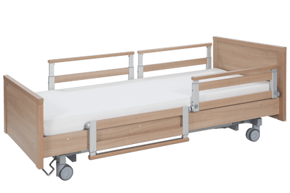 Swivel-mounted, split side rail