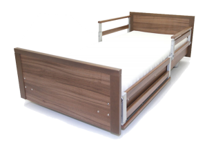 Evolution 400 Bed shown with removable cot sides / side rails