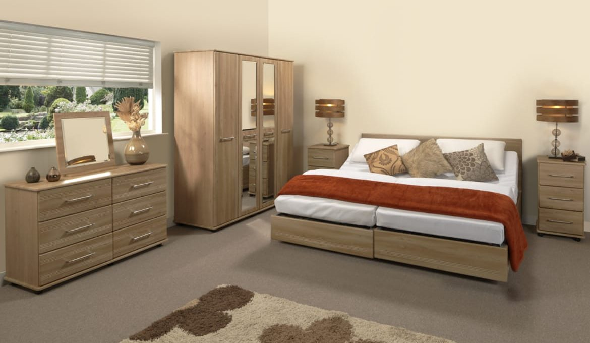 Bello Sonno Double Profiling Bed - Roomset
